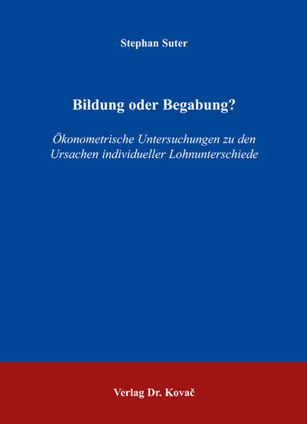 Bildung oder Begabung? - Coverbild