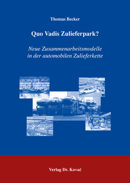 Quo Vadis Zulieferpark? - Coverbild