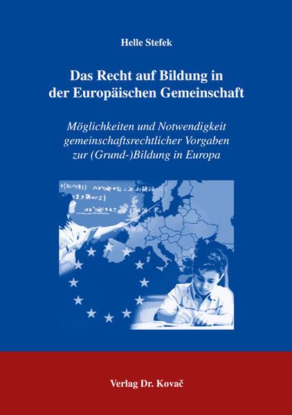 Das Recht auf Bildung in der Europäischen Gemeinschaft - Coverbild