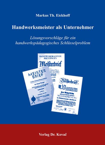 Handwerksmeister als Unternehmer - Coverbild