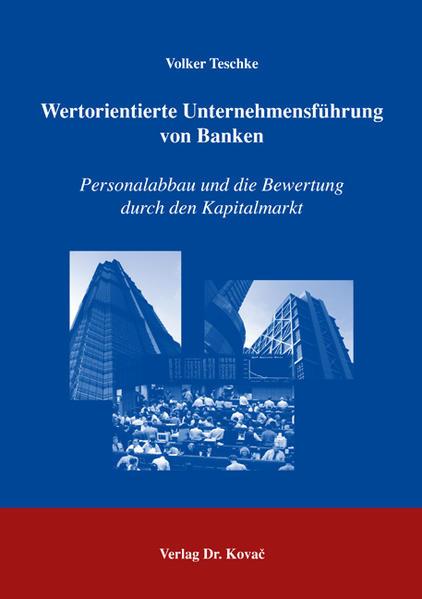 Wertorientierte Unternehmensführung von Banken - Coverbild