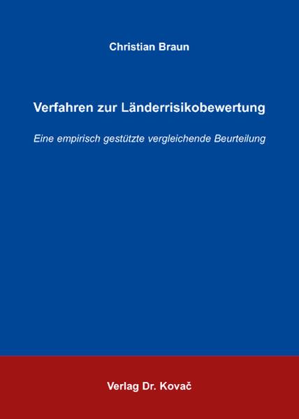 Verfahren zur Länderrisikobewertung - Coverbild