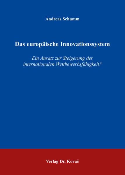 Das europäische Innovationssystem - Coverbild