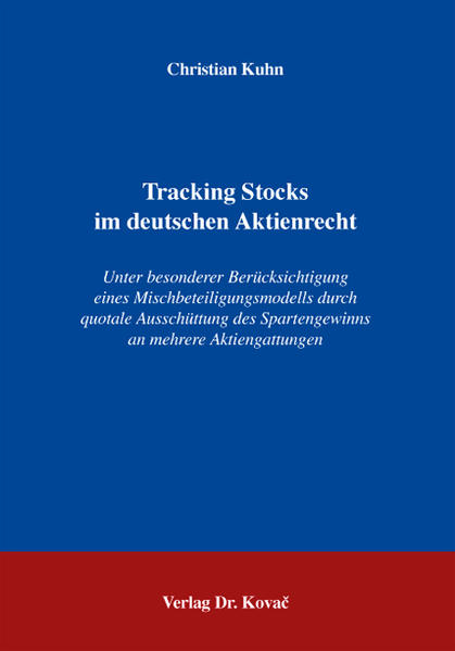 Tracking Stocks im deutschen Aktienrecht - Coverbild