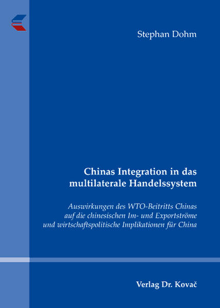 Chinas Integration in das multilaterale Handelssystem - Coverbild