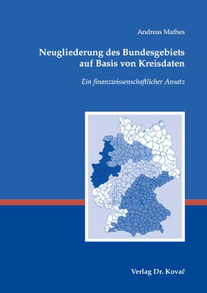 Neugliederung des Bundesgebiets auf Basis von Kreisdaten - Coverbild