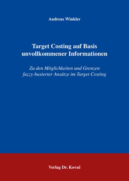 Target Costing auf Basis unvollkommener Informationen - Coverbild