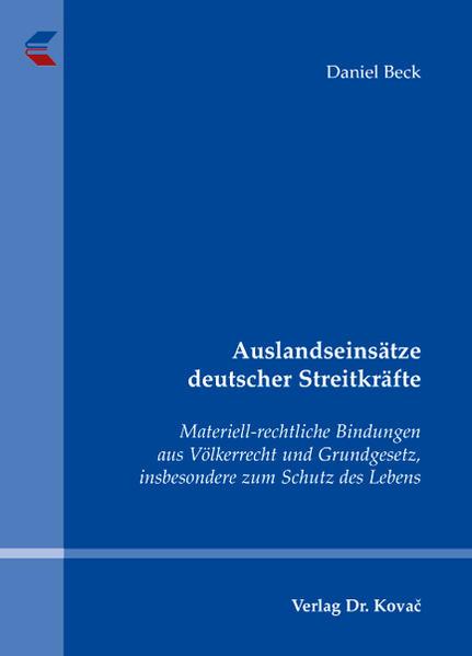 Auslandseinsätze deutscher Streitkräfte - Coverbild