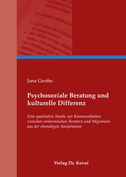 Psychosoziale Beratung und kulturelle Differenz - Coverbild