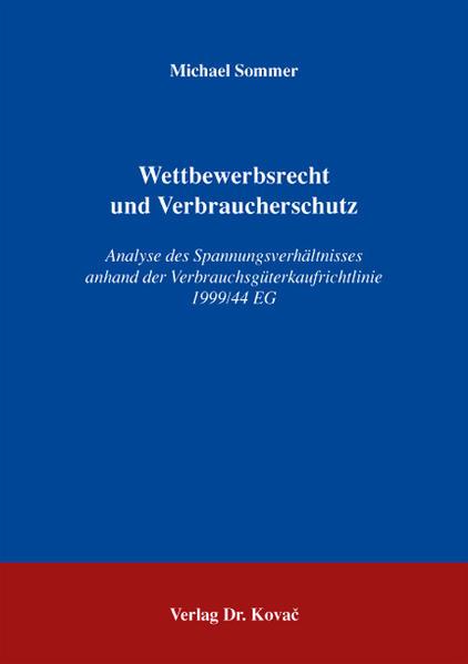 Wettbewerbsrecht und Verbraucherschutz - Coverbild