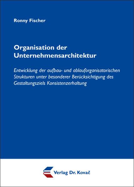 Organisation der Unternehmensarchitektur - Coverbild