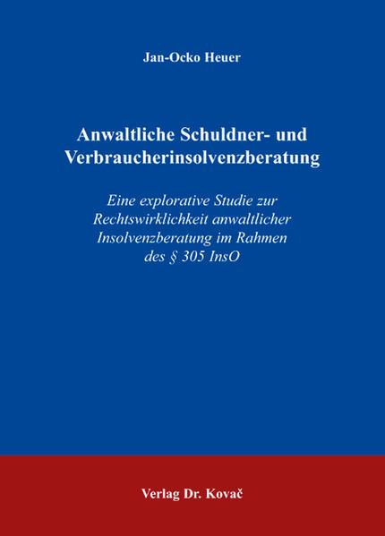 Anwaltliche Schuldner- und Verbraucherinsolvenzberatung - Coverbild