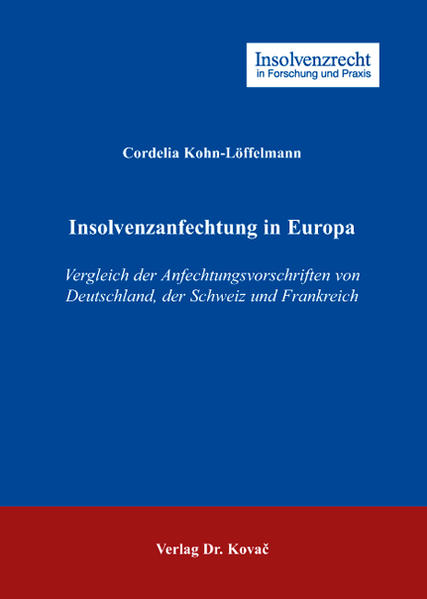 Insolvenzanfechtung in Europa PDF Download
