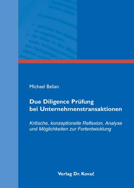 Due Diligence Prüfung bei Unternehmenstransaktionen - Coverbild