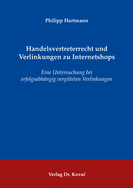 Handelsvertreterrecht und Verlinkungen zu Internetshops - Coverbild
