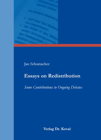 Kostenloser Download Essays on Redistribution PDF