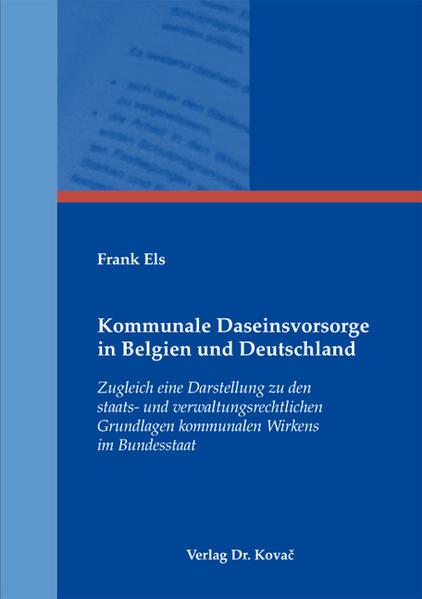 Kommunale Daseinsvorsorge in Belgien und Deutschland - Coverbild