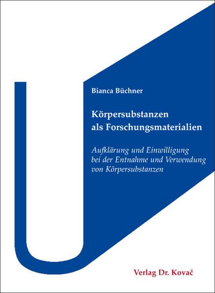 Körpersubstanzen als Forschungsmaterialien - Coverbild