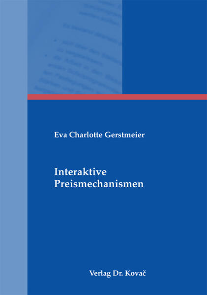 Interaktive Preismechanismen - Coverbild