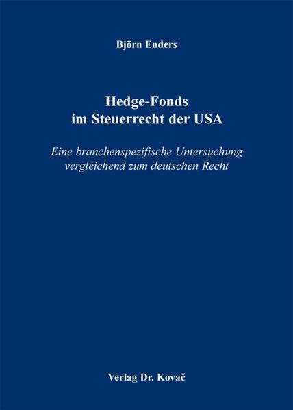 Hedge-Fonds im Steuerrecht der USA - Coverbild