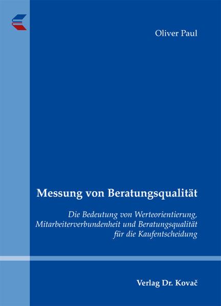 Messung von Beratungsqualität - Coverbild