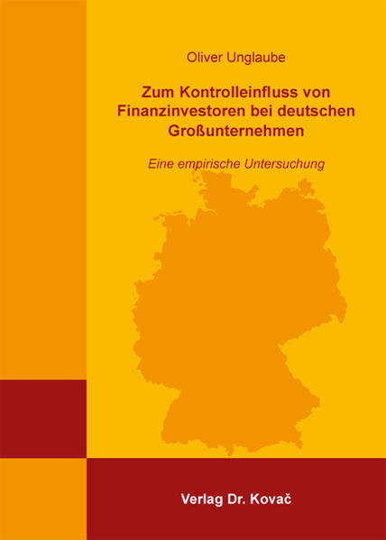Zum Kontrolleinfluss von Finanzinvestoren bei deutschen Großunternehmen - Coverbild