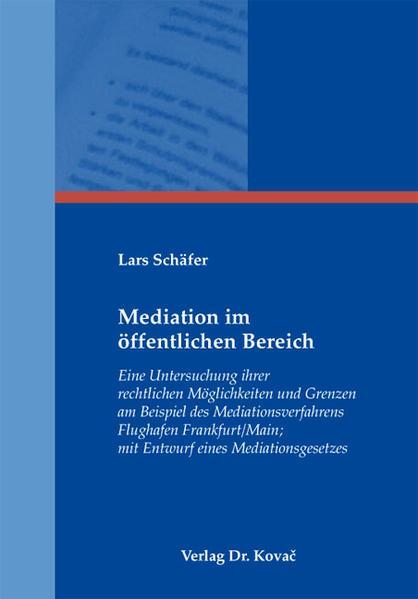 Mediation im öffentlichen Bereich - Coverbild