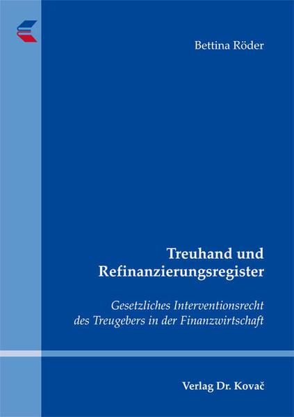 Treuhand und Refinanzierungsregister - Coverbild