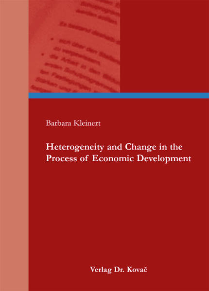 Heterogeneity and Change in the Process of Economic Development - Coverbild