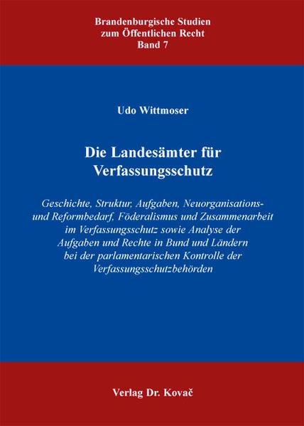 Die Landesämter für Verfassungsschutz - Coverbild