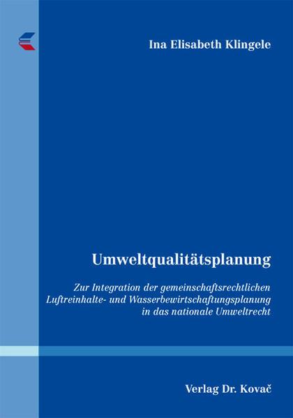 Umweltqualitätsplanung - Coverbild