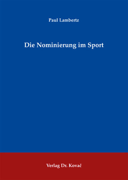 Die Nominierung im Sport - Coverbild