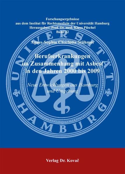 Berufserkrankungen im Zusammenhang mit Asbest in den Jahren 2000 bis 2009 - Coverbild
