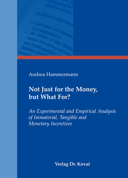 Not Just for the Money, but What For? - Coverbild