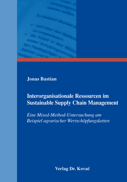Interorganisationale Ressourcen im Sustainable Supply Chain Management - Coverbild