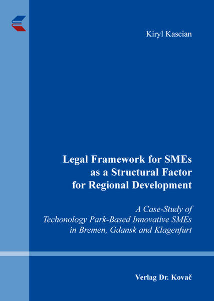 Legal Framework for SMEs as a Structural Factor for Regional Development - Coverbild