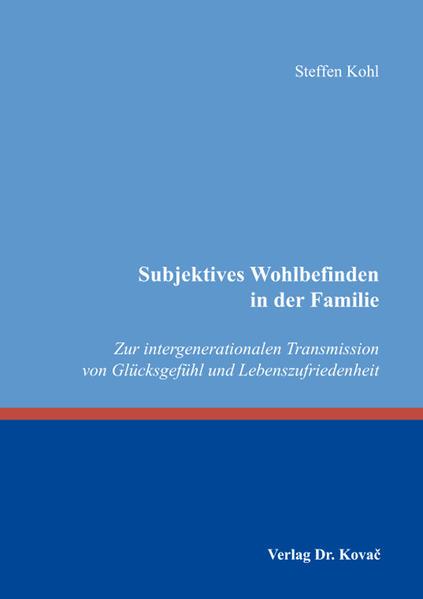 Subjektives Wohlbefinden in der Familie - Coverbild