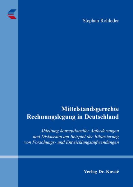 Mittelstandsgerechte Rechnungslegung in Deutschland - Coverbild