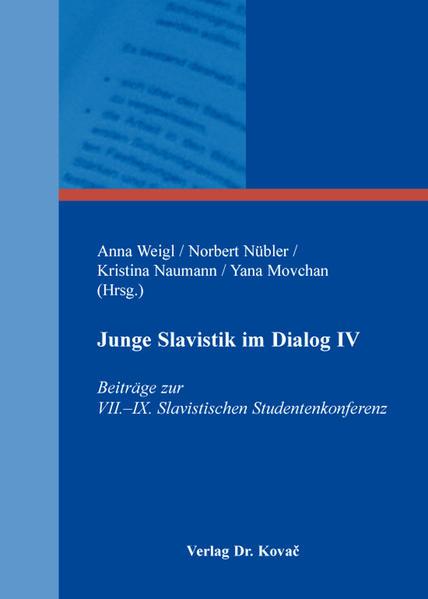 Junge Slavistik im Dialog IV - Coverbild