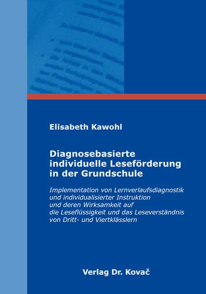 Diagnosebasierte individuelle Leseförderung in der Grundschule - Coverbild