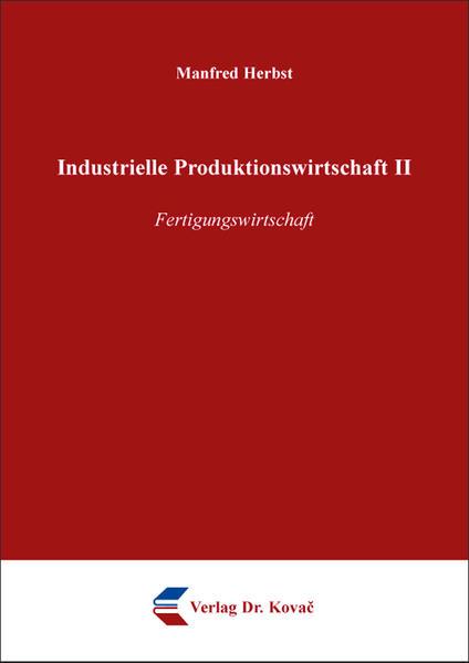 Industrielle Produktionswirtschaft II - Coverbild