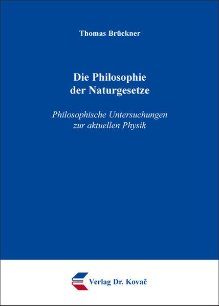 Die Philosophie der Naturgesetze - Coverbild