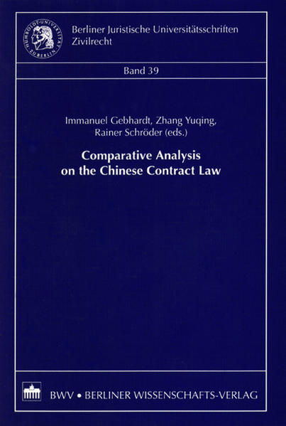 Comparative Analysis on the Chinese Contract Law - Coverbild