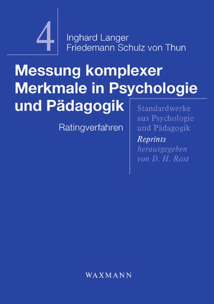 Messung komplexer Merkmale in Psychologie und Pädagogik - Coverbild