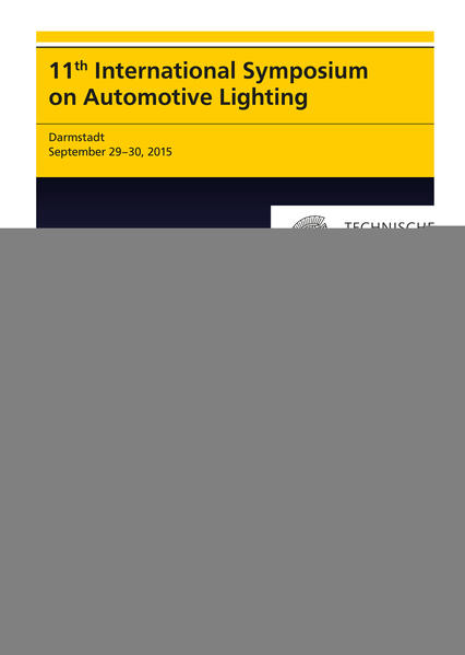 11th International Symposium on Automotive Lighting – ISAL 2015 – Proceedings of the Conference - Coverbild
