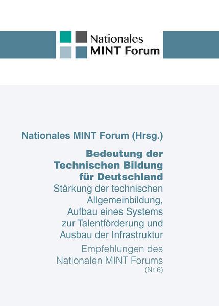 Bedeutung der Technischen Bildung für Deutschland - Coverbild