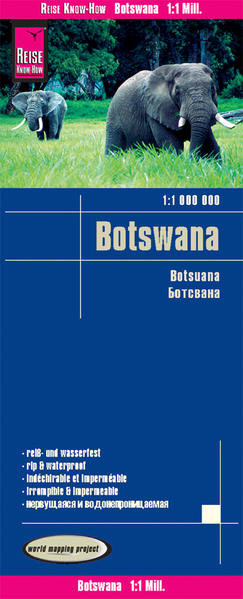 Reise Know-How Landkarte Botswana (1:1.000.000) - Coverbild