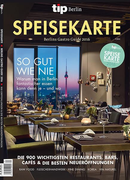 tip, Berlins Gastro Guide – Speisekarte 2016 - Coverbild