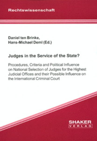 Judges in the Service of the State? - Coverbild