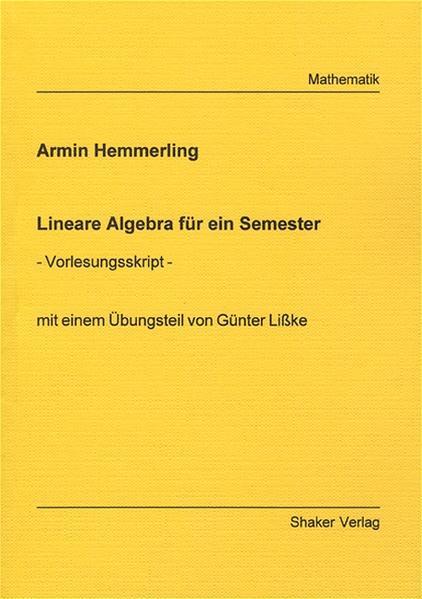 Lineare Algebra für ein Semester - Coverbild